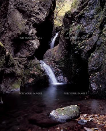 晩秋のネジレの滝の写真素材 [FYI00337134]