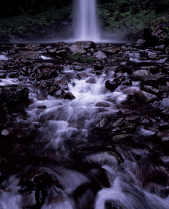 阿弥陀ヶ滝の流れの写真素材 [FYI00337206]