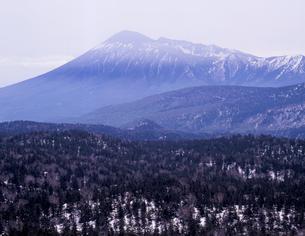 残雪の岩手山の写真素材 [FYI00337233]