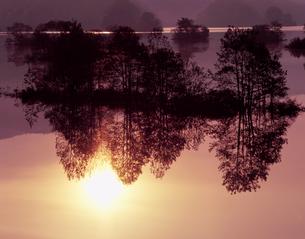 静かな夜明けの写真素材 [FYI00337243]