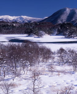 初冬の小野川湖の写真素材 [FYI00337274]