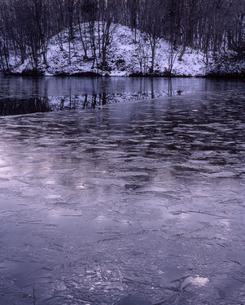 初冬の曲沢沼の写真素材 [FYI00337480]