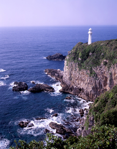 陽春の足摺岬の写真素材 [FYI00337605]