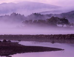 桧原湖の朝の素材 [FYI00337995]