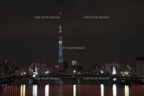 夜の清洲橋の素材 [FYI00338123]