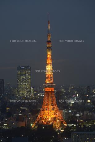 ライトアップの東京タワーの素材 [FYI00338163]