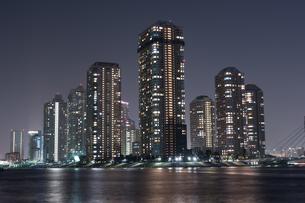 リバーシティー21の夜景の写真素材 [FYI00338835]