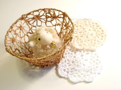 手作り 毛糸のヒツジの写真素材 [FYI00361225]
