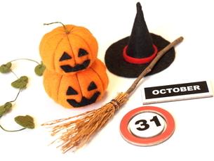 ハロウィンかぼちゃ 手作りの写真素材 [FYI00361228]