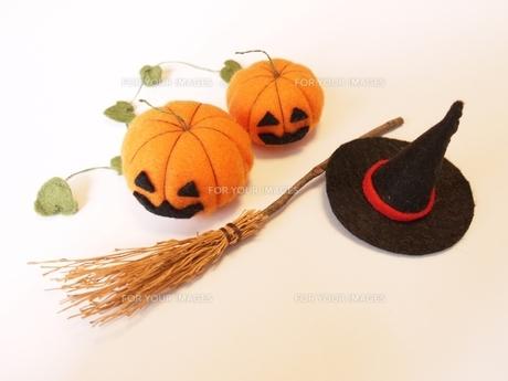 ハロウィンかぼちゃ 手作りの写真素材 [FYI00361229]