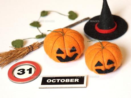 ハロウィンかぼちゃ 手作りの写真素材 [FYI00361240]