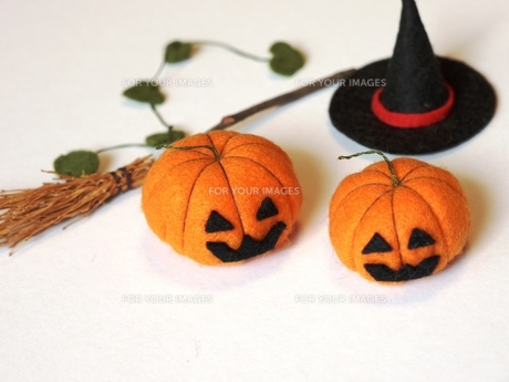 ハロウィンかぼちゃ 手作りの写真素材 [FYI00361259]