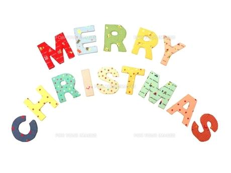 布でメリークリスマスの写真素材 [FYI00361405]