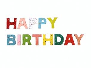 HAPPY BIRTHDAYのアルファベットの写真素材 [FYI00361408]