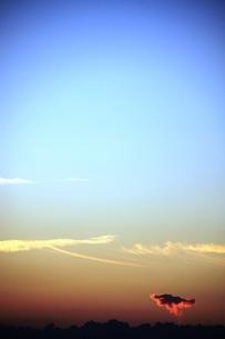 夕空の写真素材 [FYI00361656]