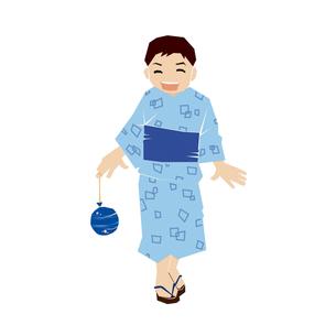 浴衣の男の子の写真素材 [FYI00361708]