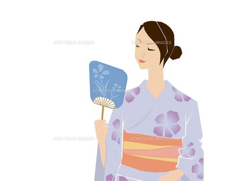 浴衣の女性の写真素材 [FYI00361716]