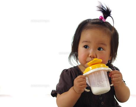 ミルクを飲むの写真素材 [FYI00361814]