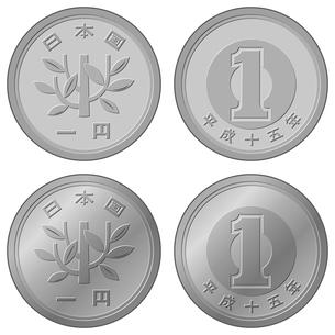 一円硬貨の写真素材 [FYI00362162]