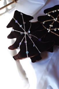 ビロードの手作りクリスマスツリーの写真素材 [FYI00363707]
