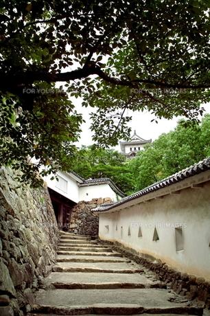 姫路城の一角の写真素材 [FYI00364238]