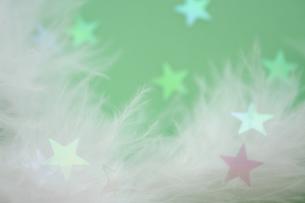 羽毛と星の素材 [FYI00364376]