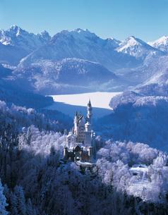 厳冬期のノイシュバンシュタイン城の写真素材 [FYI00364570]
