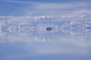 ミラーレイクのウユニ塩湖の素材 [FYI00364635]