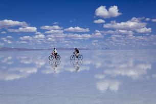 ミラーレイクのウユニ塩湖の素材 [FYI00364651]