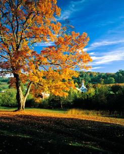 ニューイングランド地方の紅葉の写真素材 [FYI00365636]