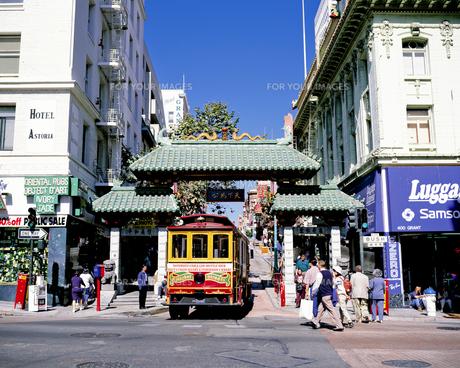 サンフランシスコのチャイナタウンの写真素材 [FYI00365648]