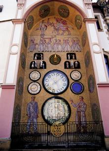 オロモウツの仕掛け時計の写真素材 [FYI00365998]