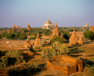 ミャンマーのオールドバガン遺跡の写真素材 [FYI00366017]