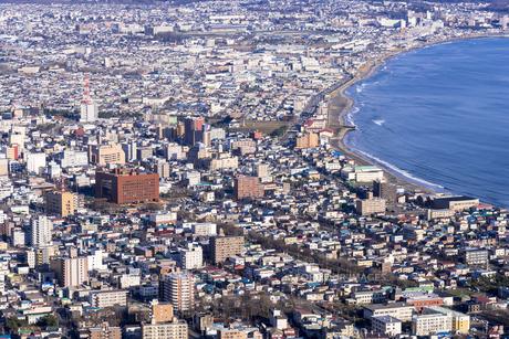 冬の函館山展望台より函館市街の素材 [FYI00366103]