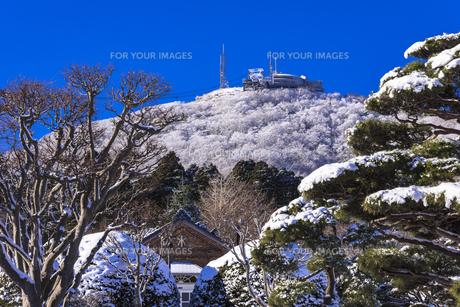 雪の函館山山頂の素材 [FYI00366125]