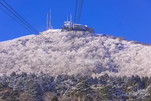函館山ロープウエー雪景色の素材 [FYI00366126]