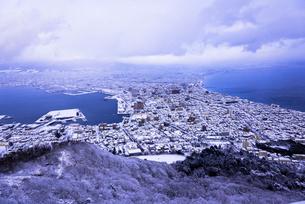 函館山より函館市内雪景色の素材 [FYI00366129]