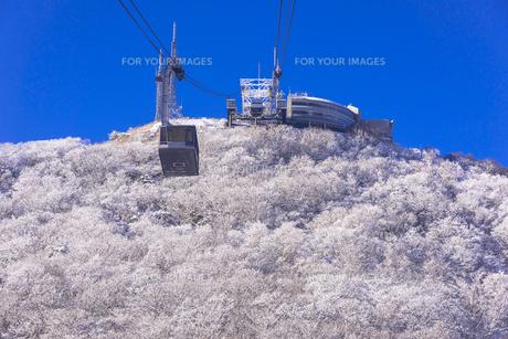 函館山ロープウエー雪景色の素材 [FYI00366130]