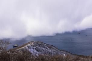 函館山より津軽海峡雪景色の素材 [FYI00366147]