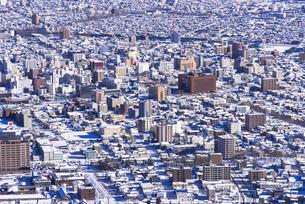 函館山より函館市内雪景色の素材 [FYI00366178]