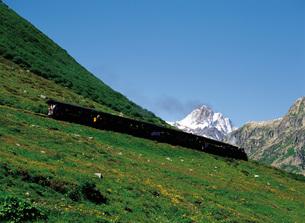 スイスの蒸気機関車の素材 [FYI00366219]