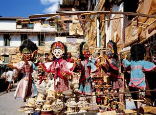ネパールの土産品の写真素材 [FYI00366267]
