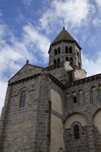 オーベルニュ地方のサンネクテール教会の写真素材 [FYI00366306]