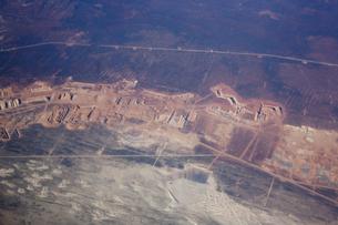 南アフリカのダイアモンド鉱山空撮の写真素材 [FYI00366377]