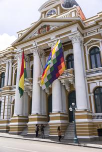 ムリリョ広場の国会議事堂の写真素材 [FYI00366797]