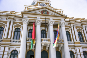 ムリリョ広場の国会議事堂の写真素材 [FYI00366808]