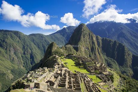 インカ帝国のマチュピチュ遺跡の写真素材 [FYI00366848]