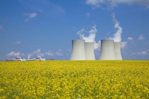 テメリンの原子力発電所と菜の花畑の写真素材 [FYI00367139]