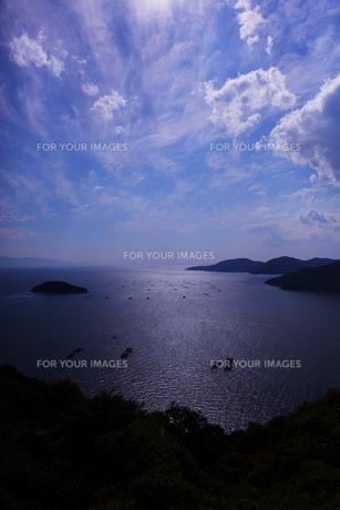瀬戸内海の青い空と海の素材 [FYI00367227]