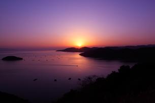 万葉岬の夕日の写真素材 [FYI00367237]
